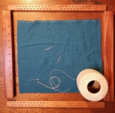 How to mount fabric to your slate frame